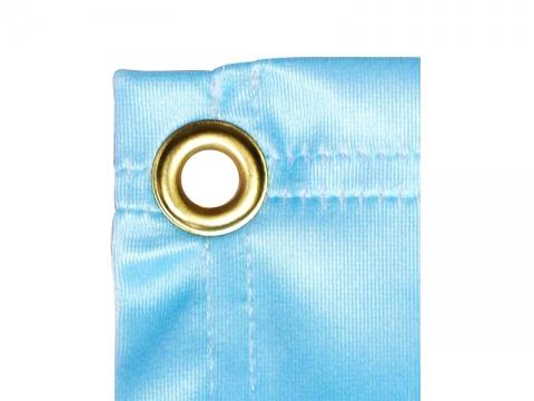 8ft X 3ft Custom Fabric Mesh Indoor Banner Brass Grommet Closeup