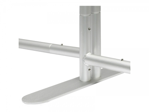 EZ Tube Connect 10FT Kit B Display Vertical and Horizontal Frame with Support Foot with 2 Mounting Points