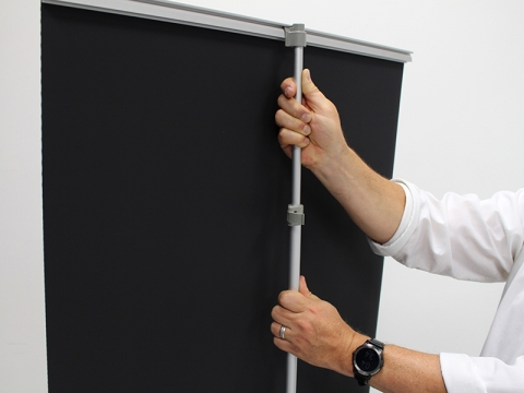 GPS Retractable Banner Stand Adjustable Pole