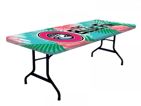ONE CHOICE 8ft Stretch Table Topper Dye Sub Printed Graphic