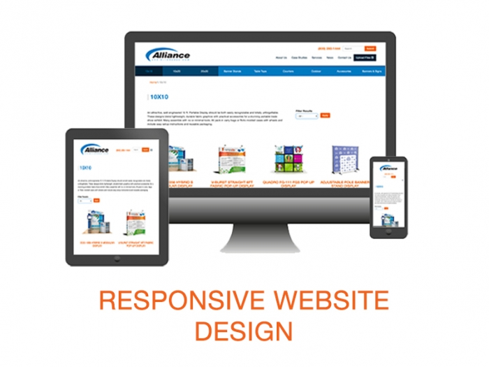 Responsive Design Web Site, Compter, Tablet, Phone