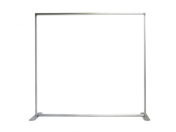 8 ft. EZ Tube Straight Display Frame with Two Support Feet Straight View