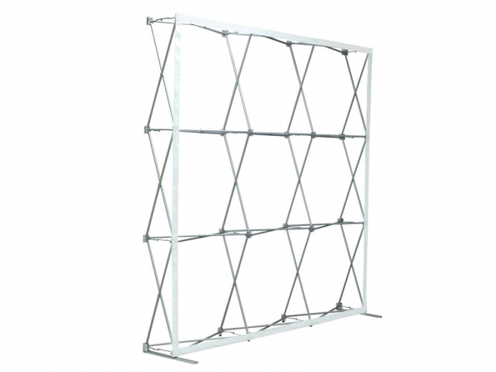 8 Ft. Straight Ready Pop Fabric Display Frame Expanded with No Graphic