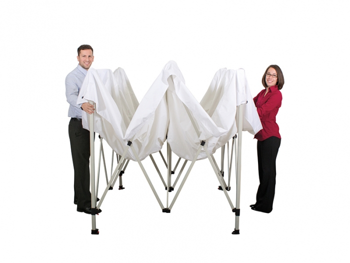Deluxe 10ft Canopy Tent Kit Set-up