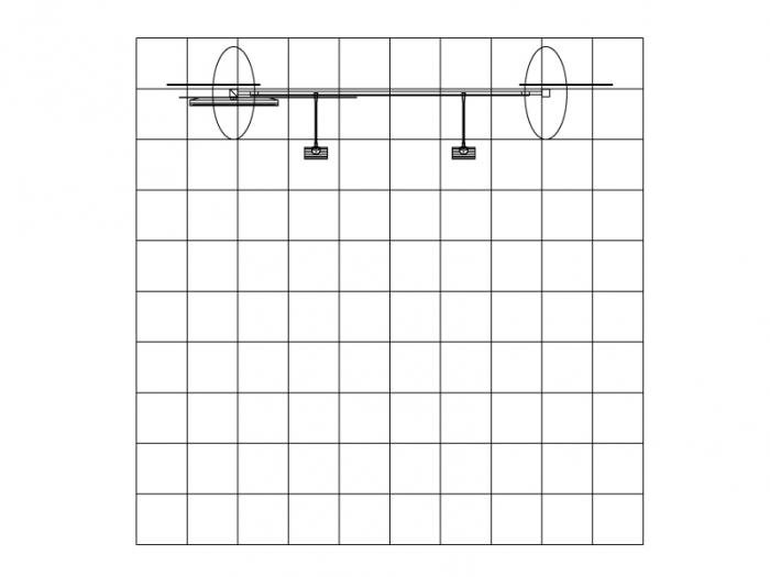 ECO-1049 10' x 10' Sustainable Hybrid Display Plan View Top on Grid