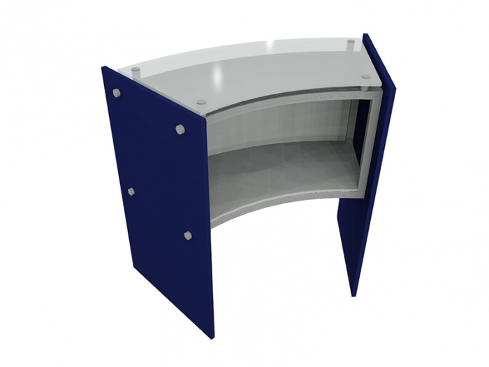 ECO-46C Sustainable Podium Rear View with Back Storage