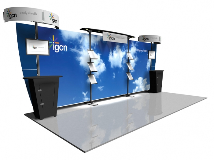 Exhibitline EX.1020.1.NLC1 20ft Inline Hybrid Display