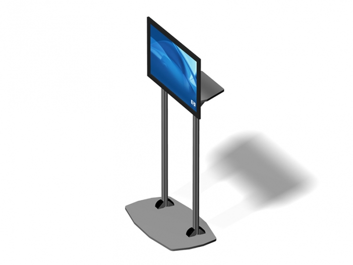 Exhibitline EX.1 LCD Monitor Stand Down View