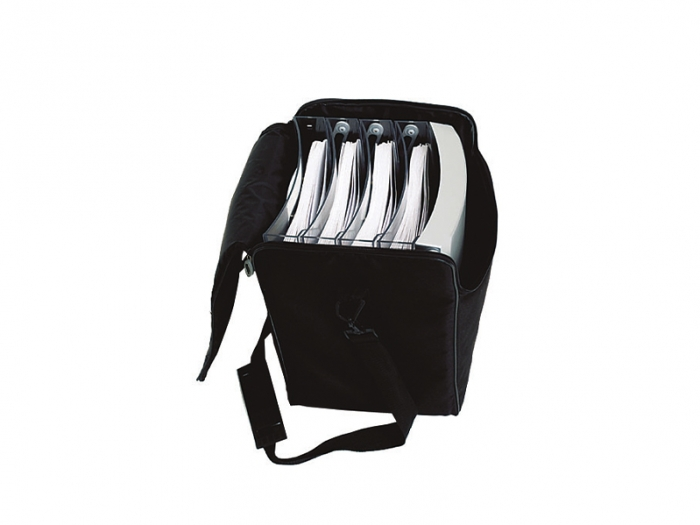Expolinc Premium Brochure Holder Collapsed in Padded Carry Bag with Literature in Compartments