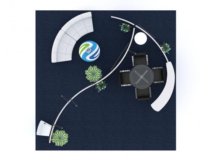 Gravitee GK-5124 Hybrid Trade Show Island Plan View