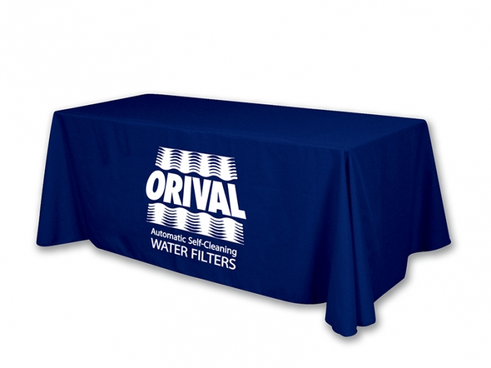Heat Vinyl Transfer Table Throw Imperial Blue with White Vinyl Logo