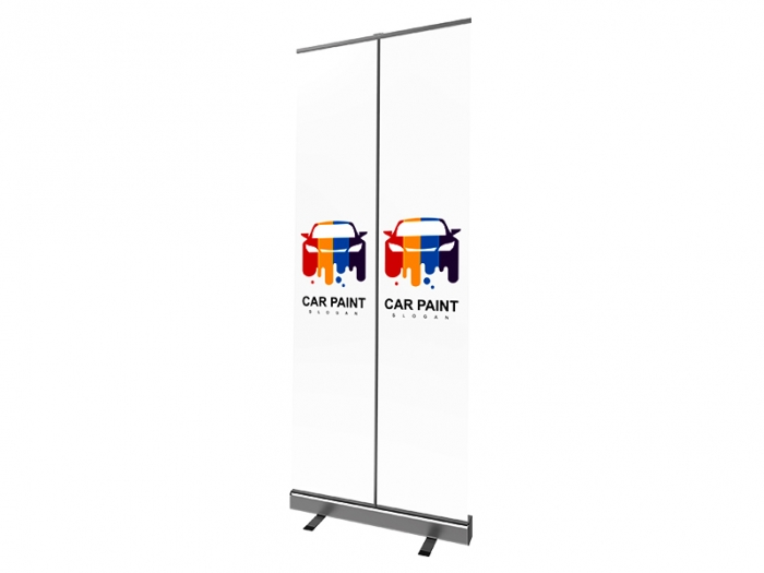 Mosquito 800 Retractable Banner Shield with Printed Graphic