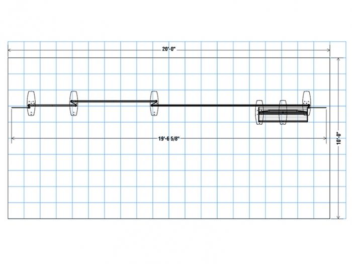 Navigator MDS-012 20ft Inline Modular Display Plan View