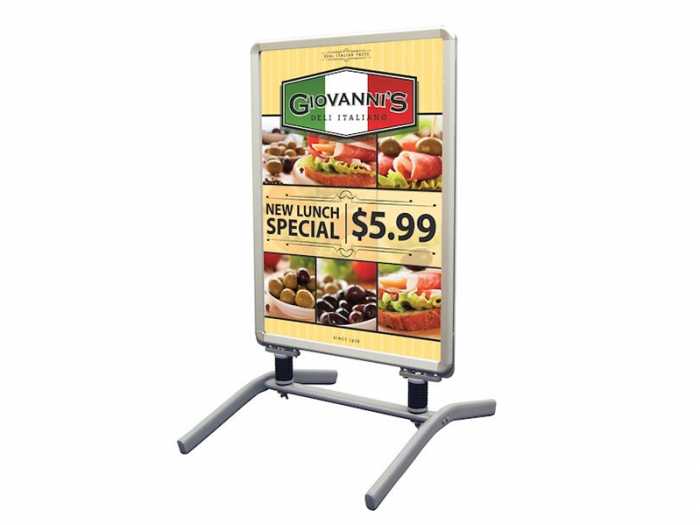 Outdoor Flex Sign Package with Spring Base and Graphic Right View