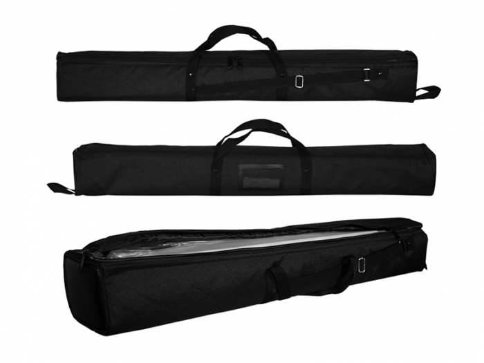 Pronto Padded Nylon Carry Bag, Three Views, Zips Long Way, Handle and Carry Strap