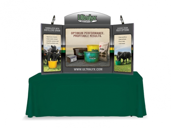 ShowMax Self-Packing Tabletop Display with Graphics