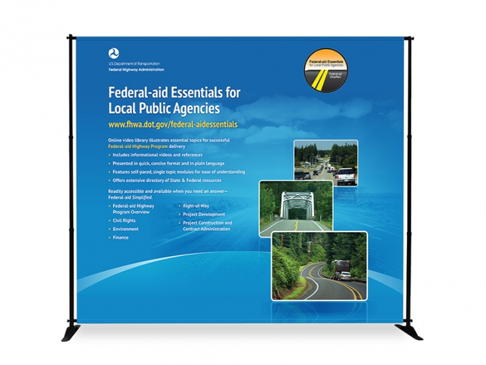 Slider 10ft Adjustable Banner Stand & Graphic