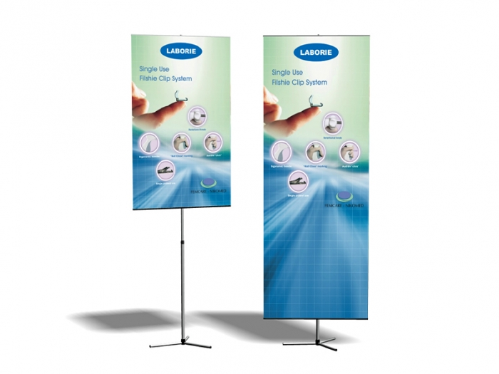 Duo Sprint Adjustable Banner Stands