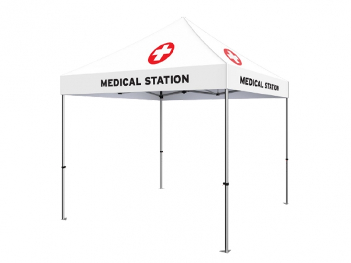 Standard 10ft Full Dye Sub Canopy Medical and Testing Tent
