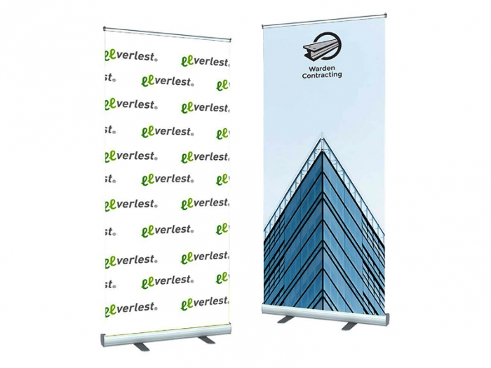 V-STAND 47in Wide Retractable Banner Stands