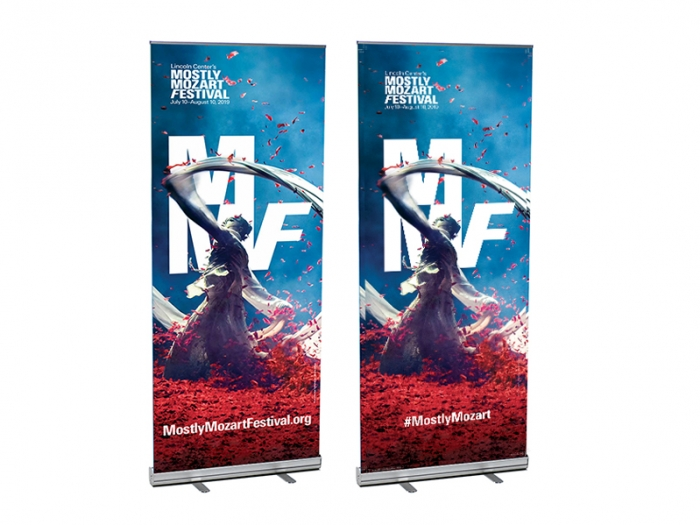 V-STAND 33in Wide Retractable Banner Stands
