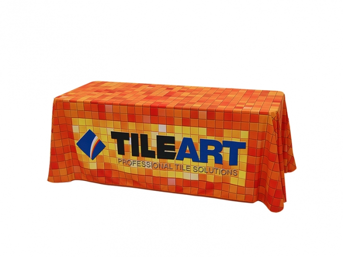 V-THROW Dye Sublimation Table Throw Left View