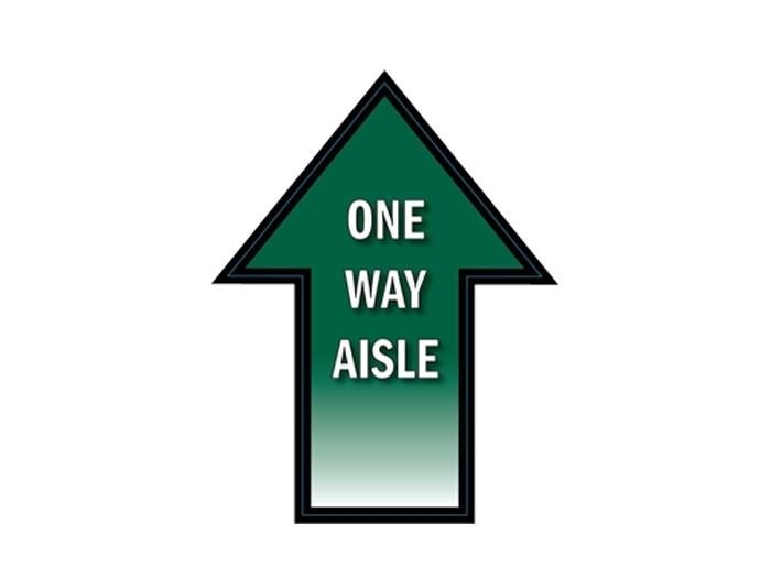 One Way Vinyl Adhesive Arrow Floor Decal