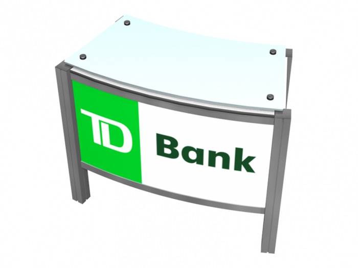 XR.C2.BL Backlit Reception Counter with Locking Storage and Clear Standoff Plexiglas Top - Top View