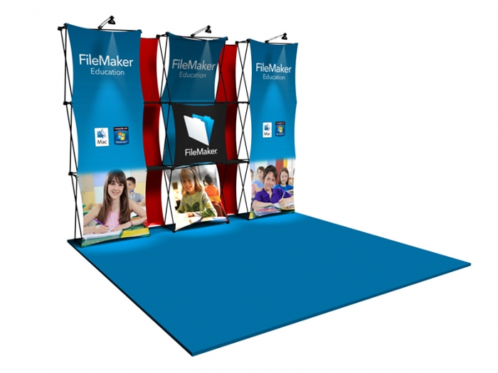 "Xpressions CONNEX 10ft Kit ""D"" Pop-up Display"